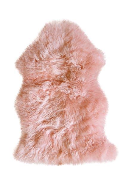 Image of Natural New Zealand Genuine Sheepskin Rug - 2ft x 3ft - Pink