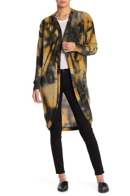 Image of Abound Tie Dye Printed Knit Long Cardigan