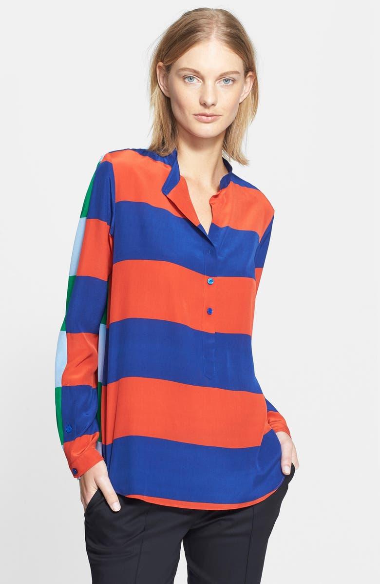 STELLA MCCARTNEY Stripe Silk Blouse, Main, color, 401