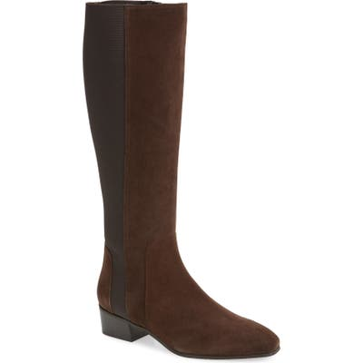 Aquatalia Flore Tall Weatherproof Boot, Brown
