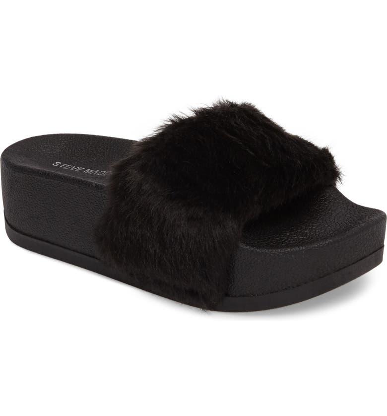 4df224042b3 Softey Faux Fur Platform Slide