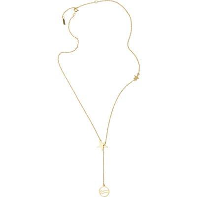 Adornia Aquarius Zodiac Lariat Necklace