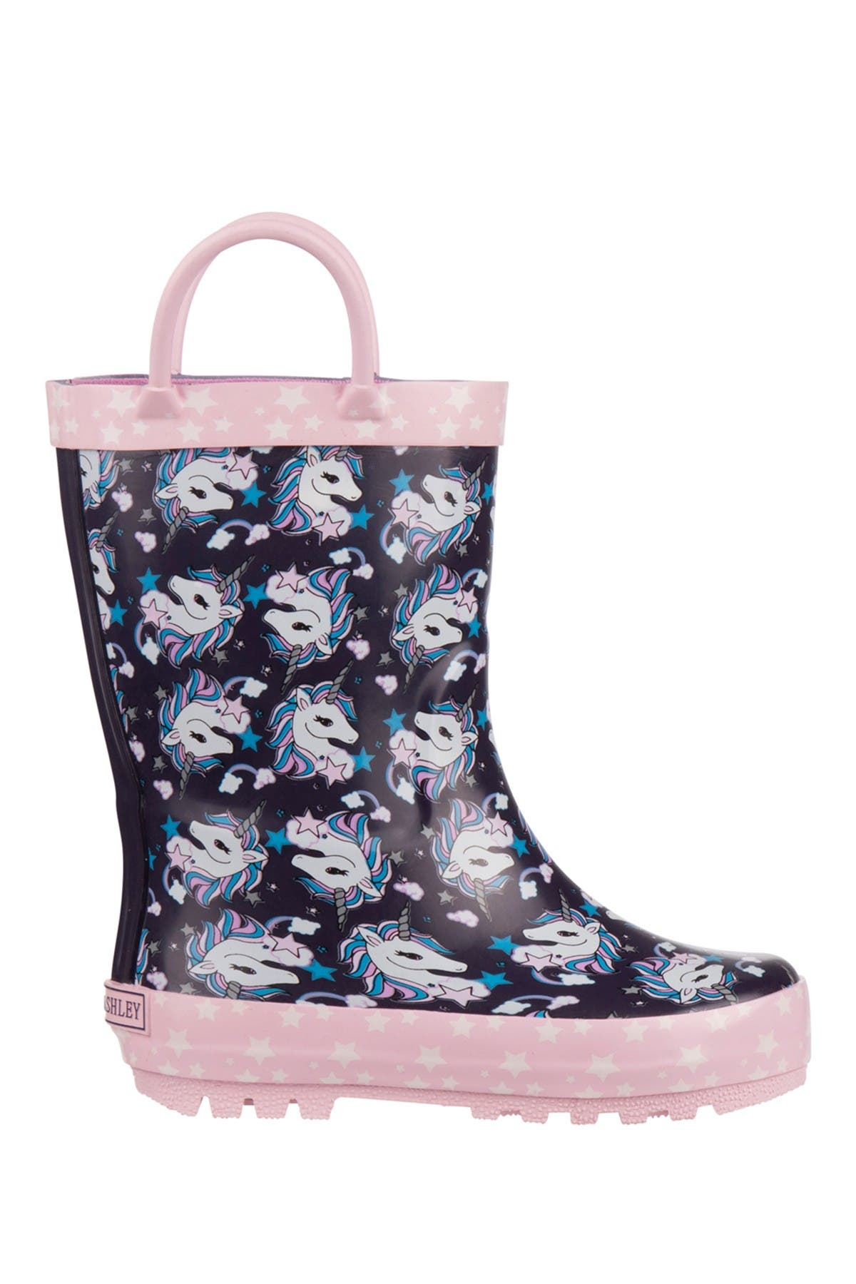 Image of Laura Ashley Unicorn Print Rain Boot