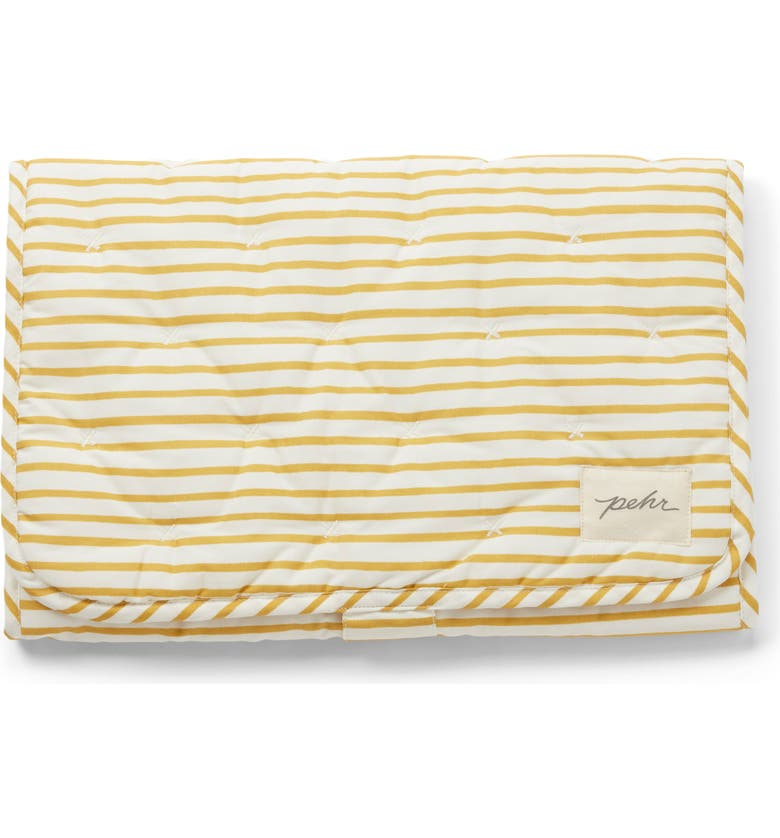 PEHR On the Go Coated Organic Cotton Changing Pad, Main, color, MARIGOLD