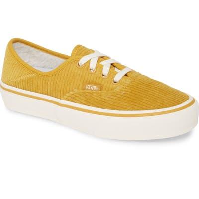 Vans Authentic Print Low Top Sneaker, Yellow