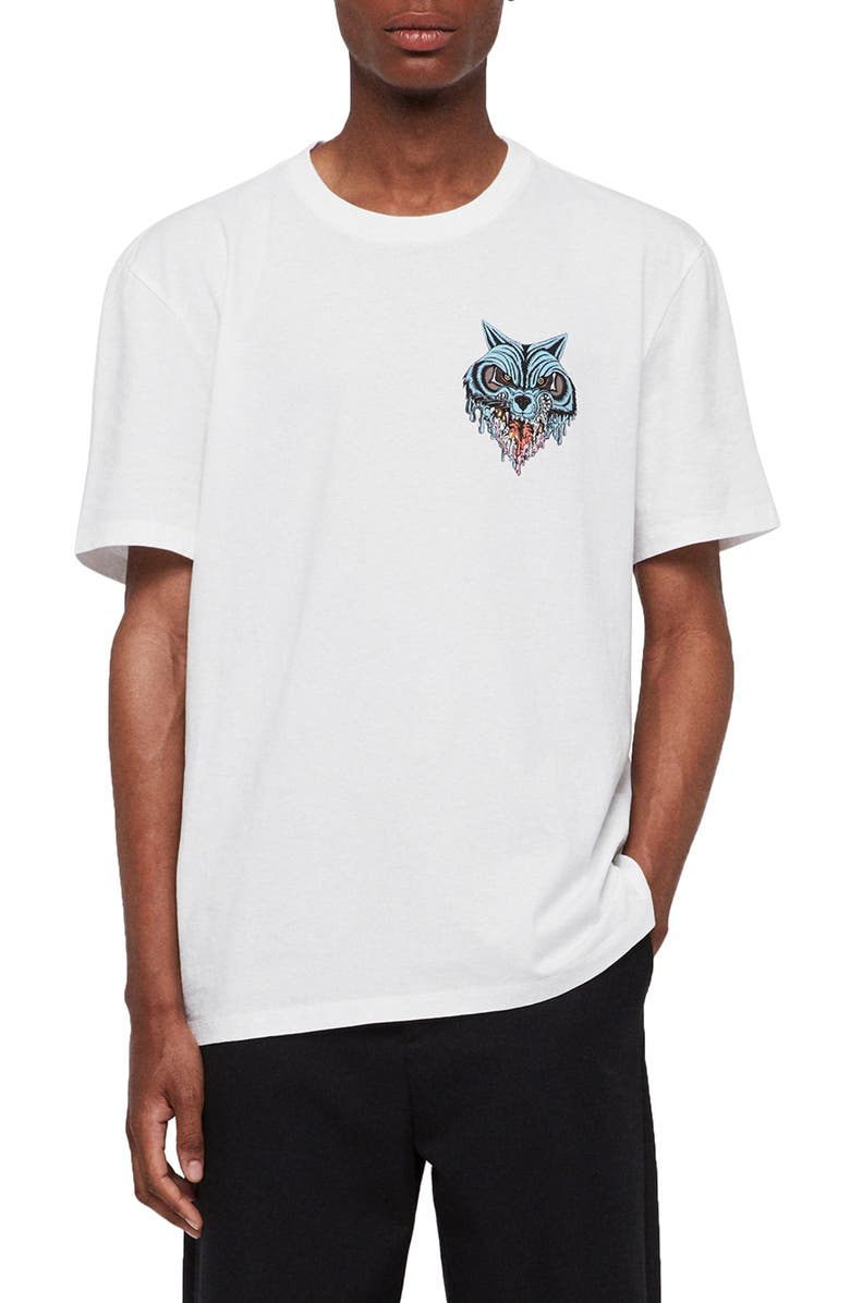 ALLSAINTS Waxwolf T-Shirt, Main, color, OPTIC WHITE