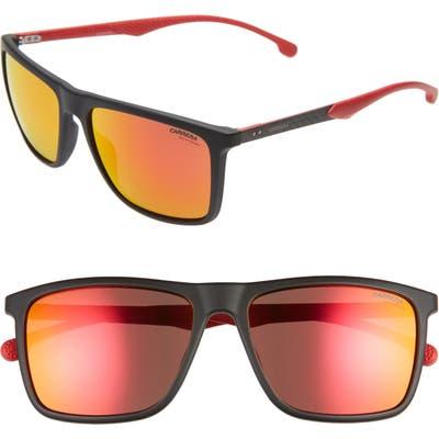 Carrera Eyewear 57Mm Sport Sunglasses - Matte Black/ Red
