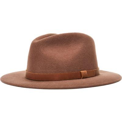 Brixton Messer Ii Felted Wool Fedora - Brown (Nordstrom Exclusive)