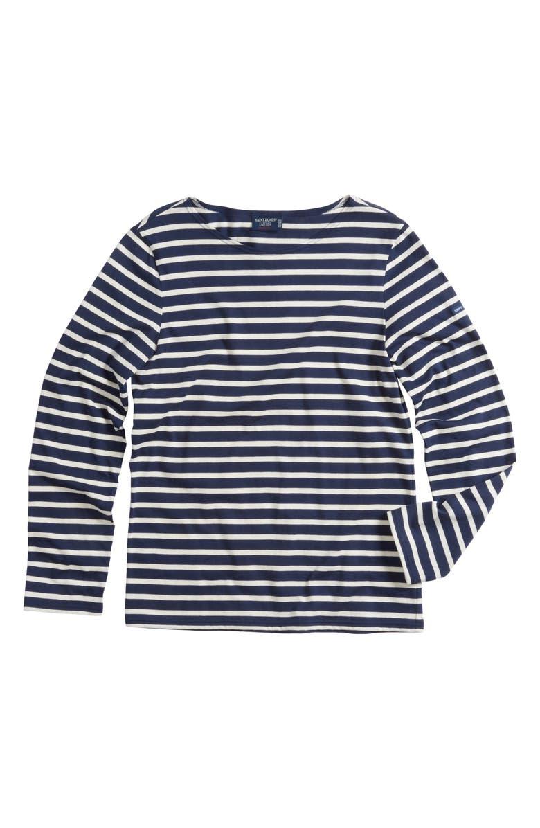 c189806e0 Minquiers Moderne Striped Sailor Shirt, Main, color, NAVY/ OFF WHITE
