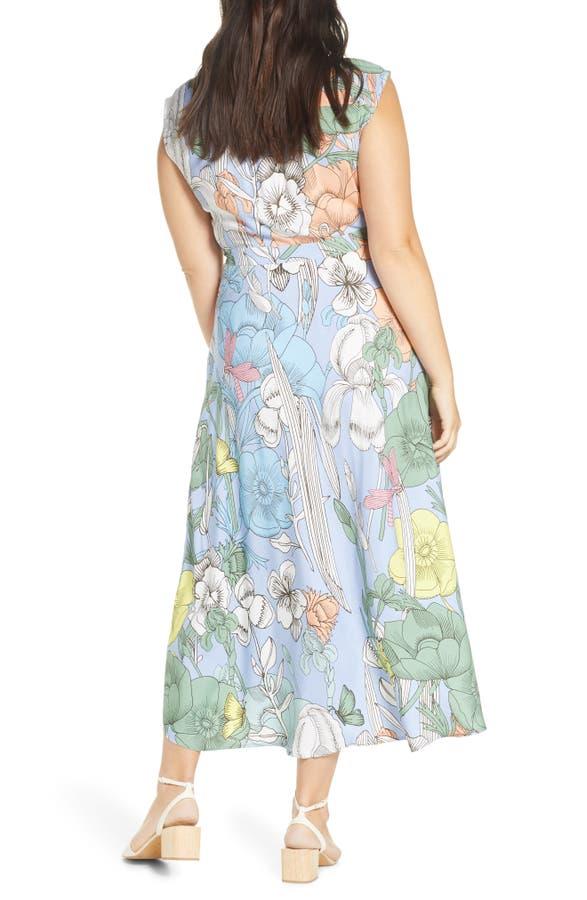b13e8914ff J.Crew Pastel Floral Maxi Dress In Light Sky Multi | ModeSens