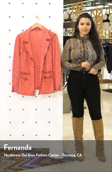 Suite Knit Linen Blend Blazer, sales video thumbnail