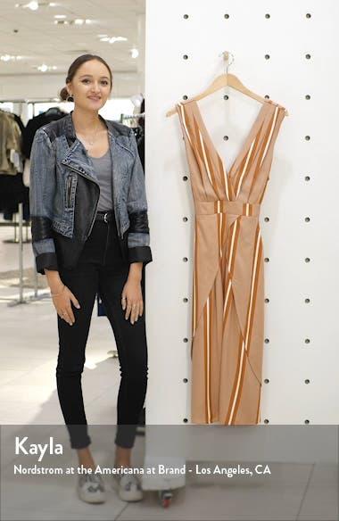 Ada Stripe Faux Wrap Midi Dress, sales video thumbnail