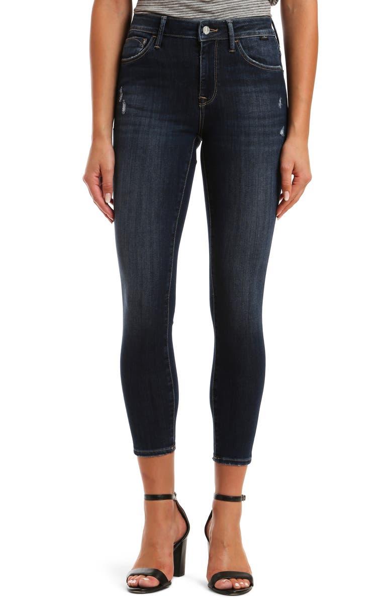 MAVI JEANS Tess SuperSoft High Waist Ankle Skinny Jeans, Main, color, 401