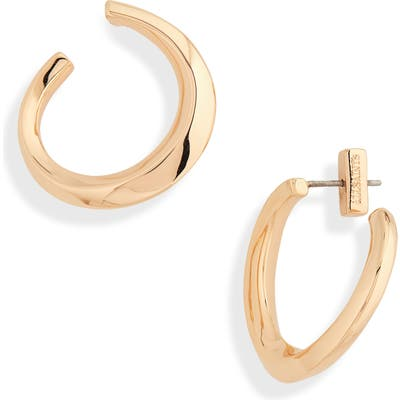 Allsaints Twisted Hoop Earrings