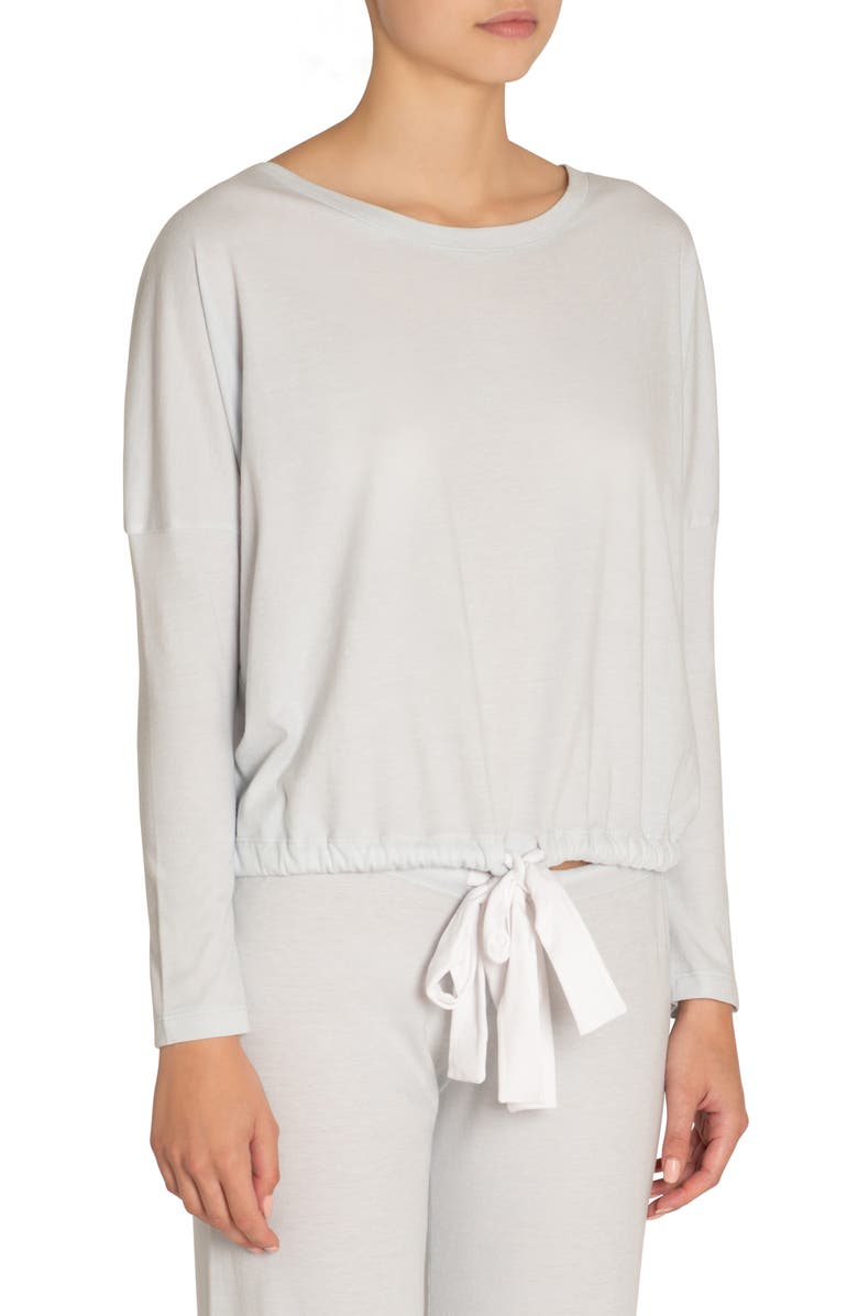 EBERJEY Heather Knit Slouchy Tee, Main, color, WATER BLUE