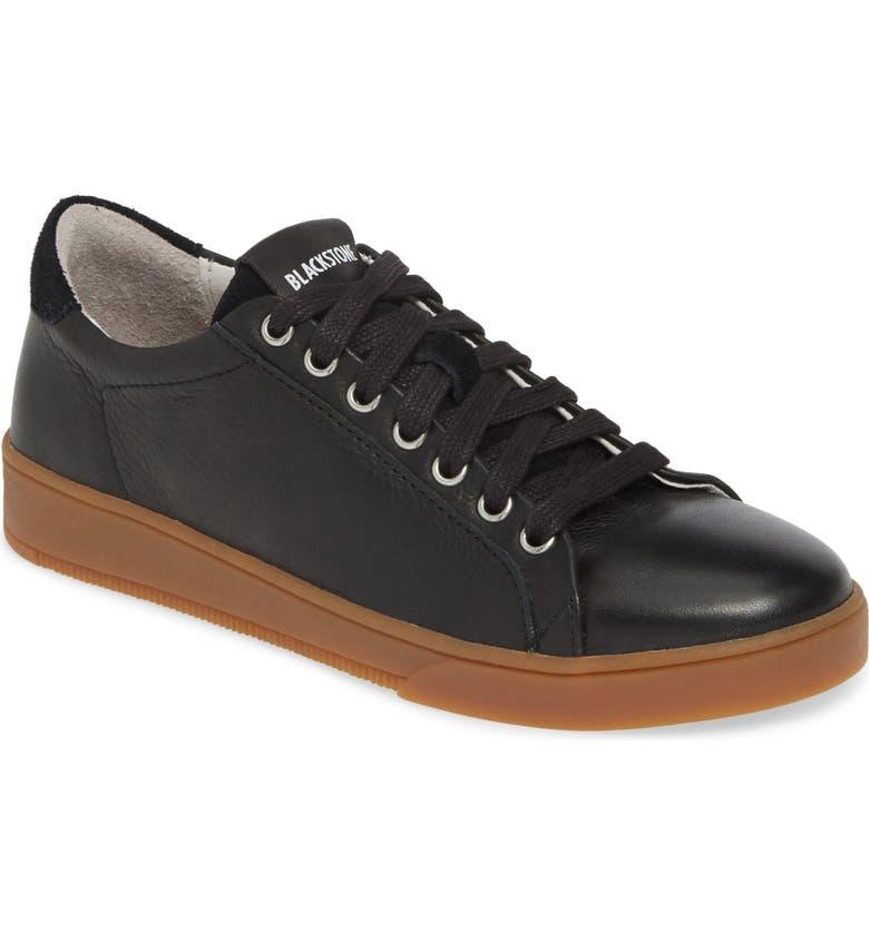 BLACKSTONE RL84 Sneaker, Main, color, BLACK LEATHER