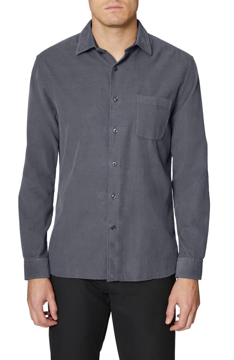 HICKEY FREEMAN Corduroy Button-Up Shirt, Main, color, 022