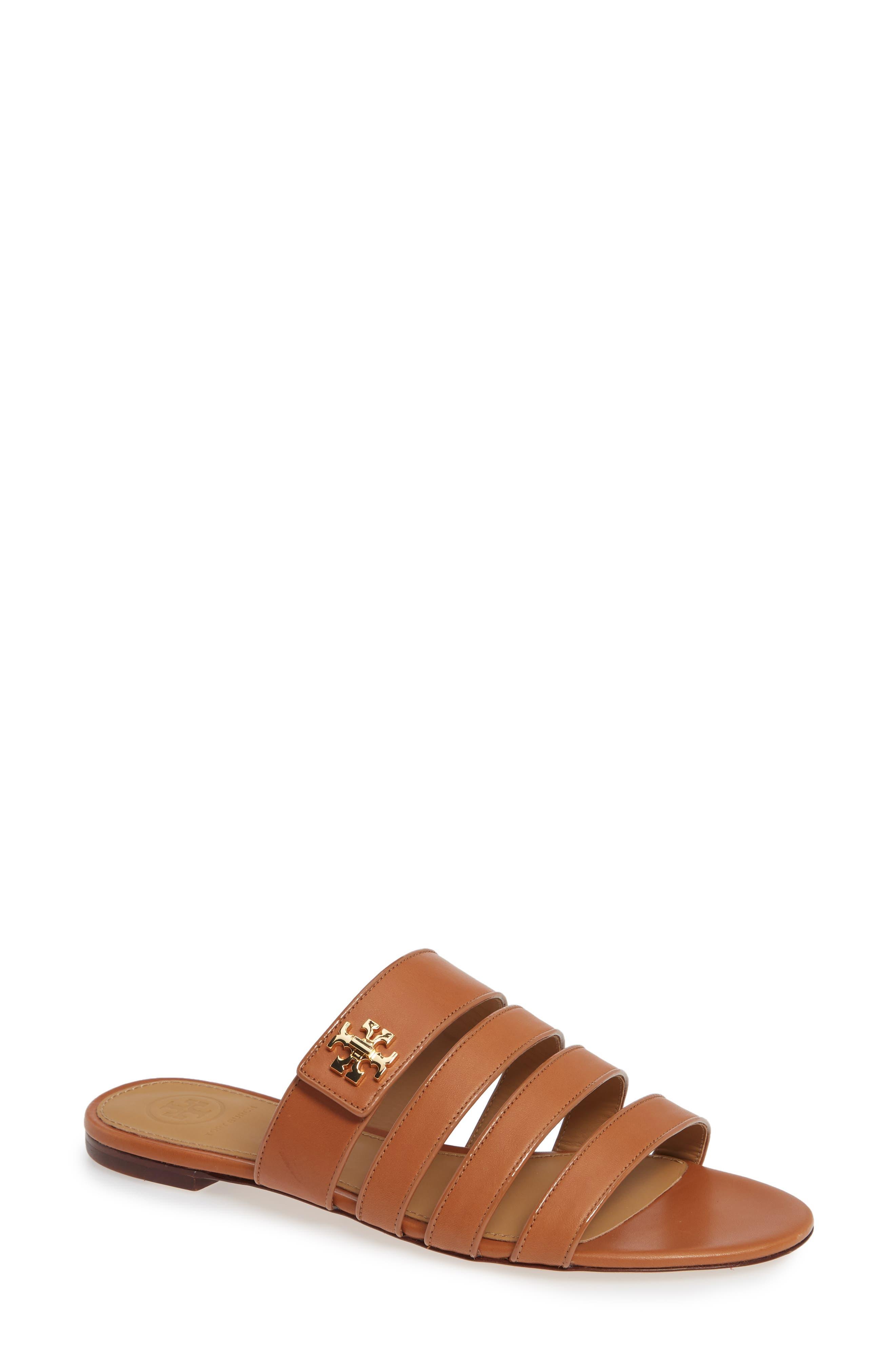 Tory Burch Kira Strappy Slide Sandal, Brown