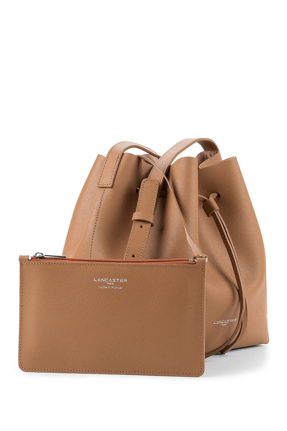 Image of Lancaster Paris Pur Saffiano Leather Bucket Bag
