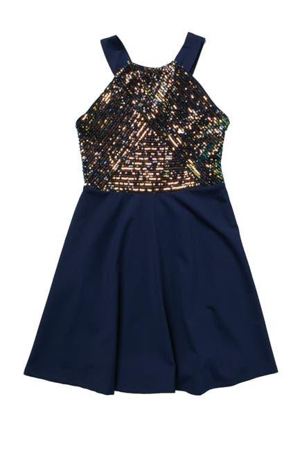 Image of Zunie Sleeveless Sequin Dress