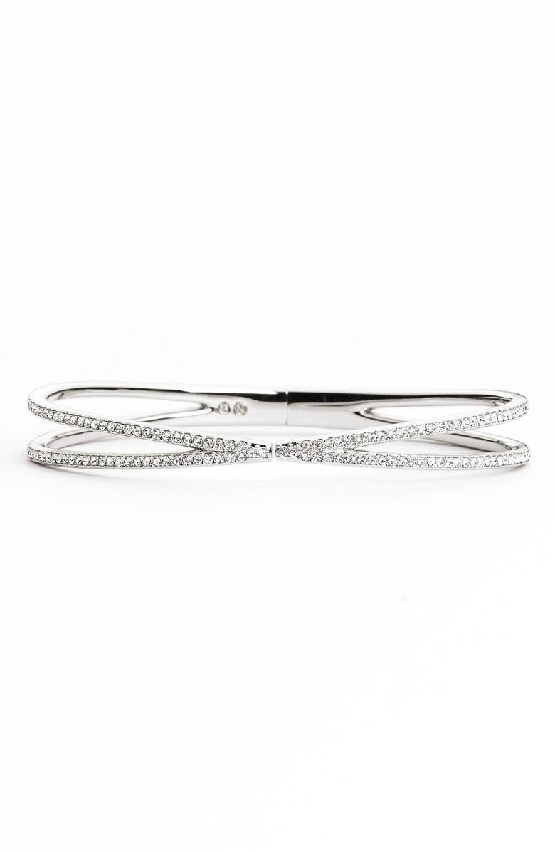 NADRI Pavé Hinged Crossover Bracelet, Main, color, 040