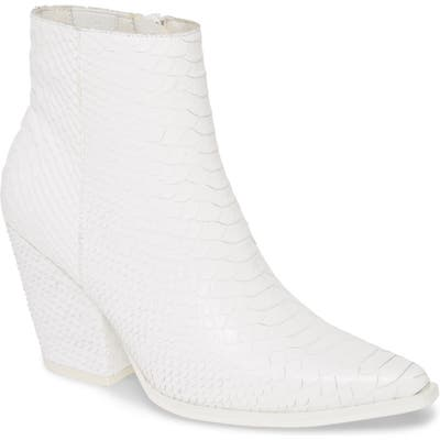 Jeffrey Campbell Elevated Bootie- White