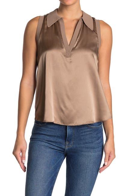 Image of Cinq a Sept Lysandra Sleeveless Silk Top