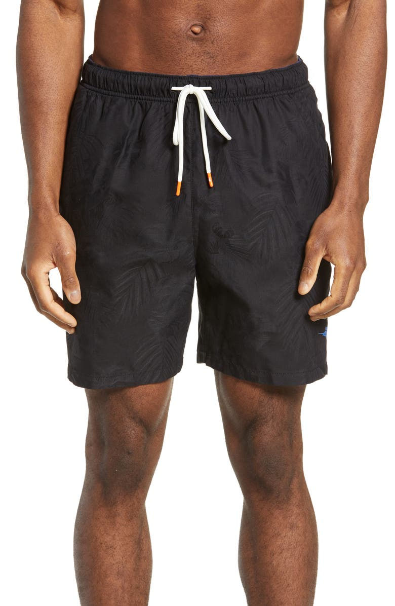 TOMMY BAHAMA Naples Coastal Fronds Swim Trunks, Main, color, 001