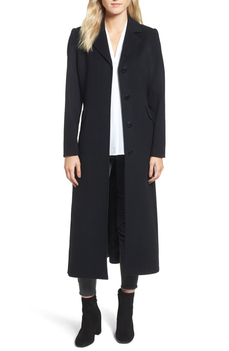 TRINA TRINA TURK Emi Wool Blend Coat, Main, color, 001