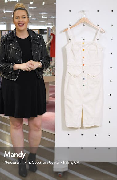 To the Point Button Front Denim Dress, sales video thumbnail
