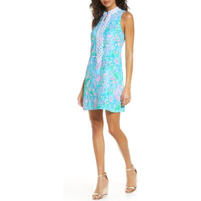 Lilly Pulitzer Jane Sleeveless Shift Dress, Blue/green