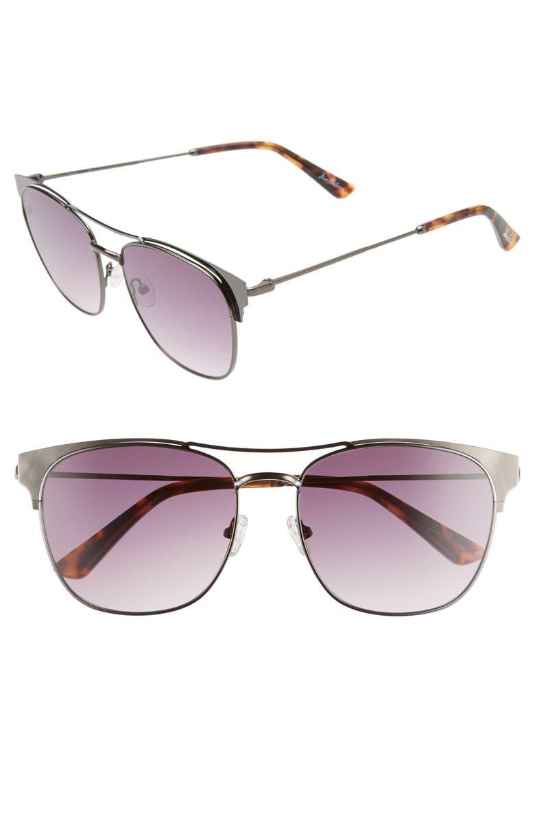 SAM EDELMAN 56mm Gradient Aviator Sunglasses, Main, color, 045