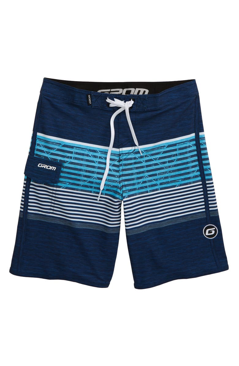 GROM Breaker Board Shorts, Main, color, NAVY