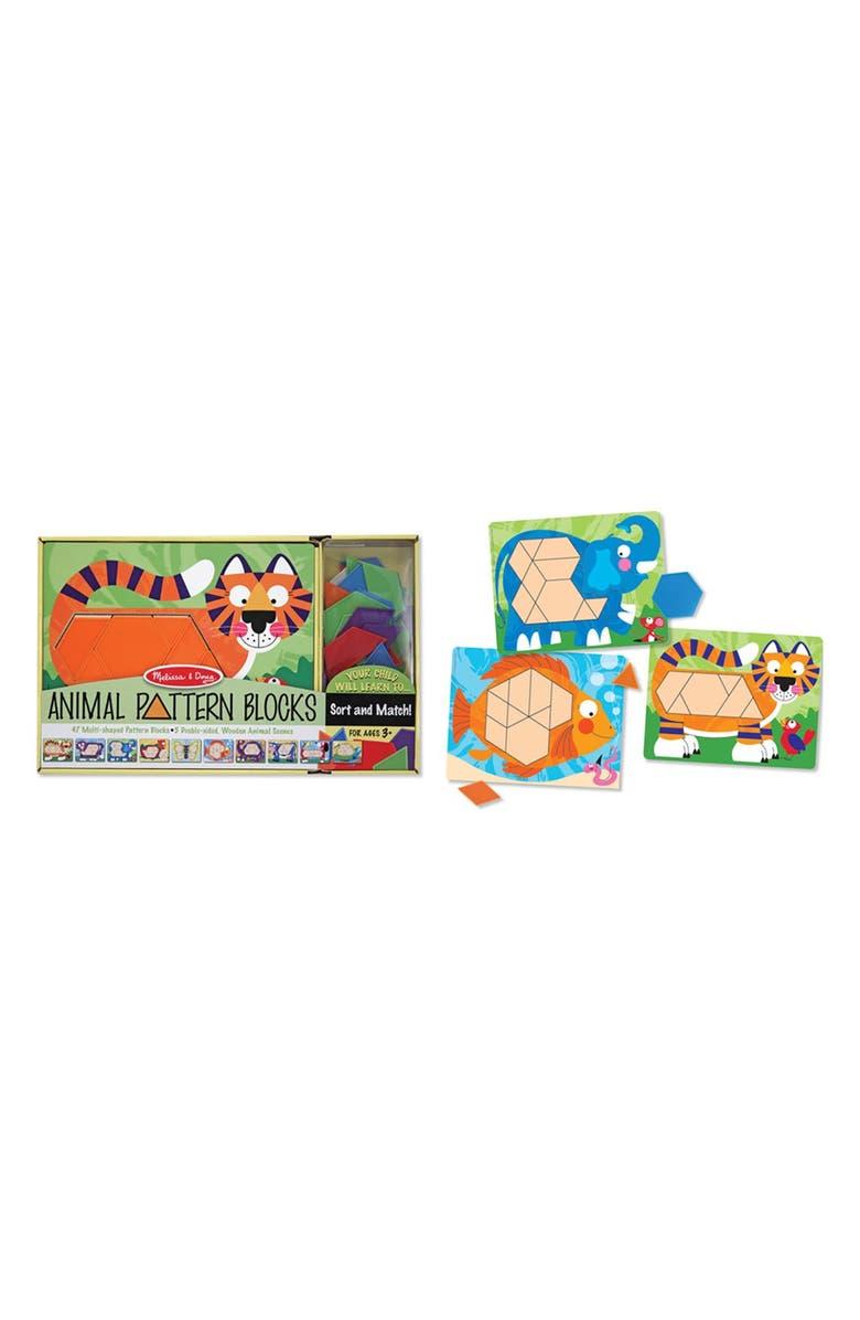 MELISSA & DOUG Animal Pattern Blocks, Main, color, MULTI