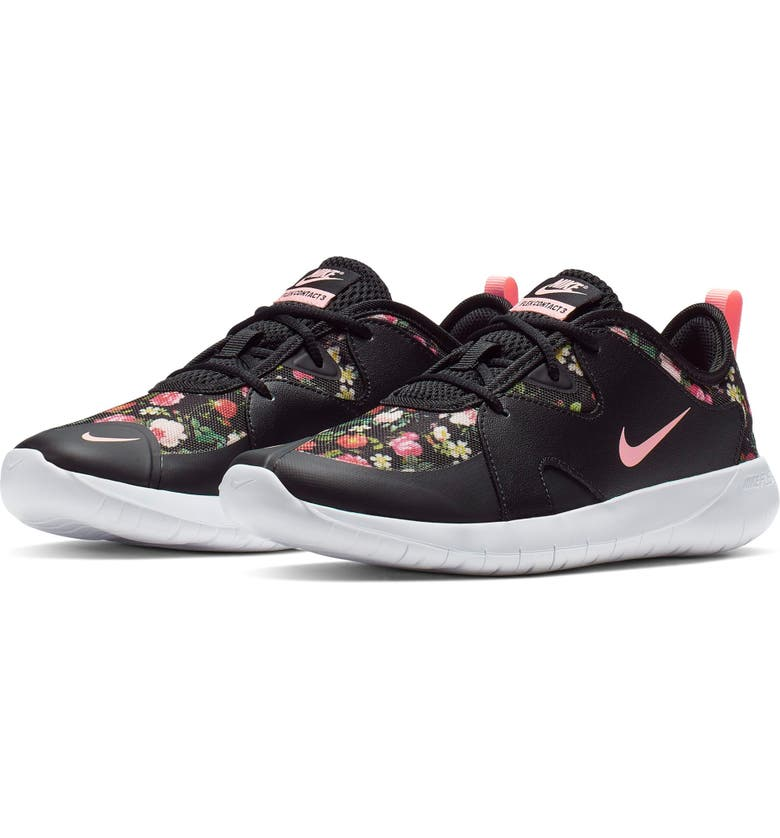 NIKE Flex Contact 3 VF Running shoe, Main, color, BLACK/ PINK TINT-WHITE