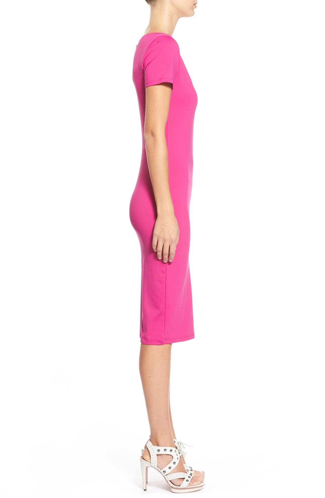 ,                             V-Neck Body-Con Dress,                             Alternate thumbnail 42, color,                             651