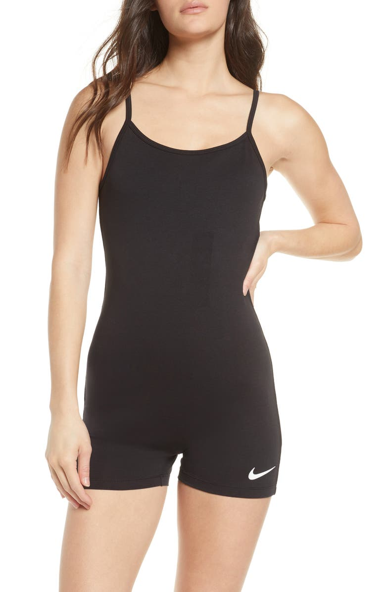 NIKE Indio One-Piece Swimsuit, Main, color, BLACK/ WHITE