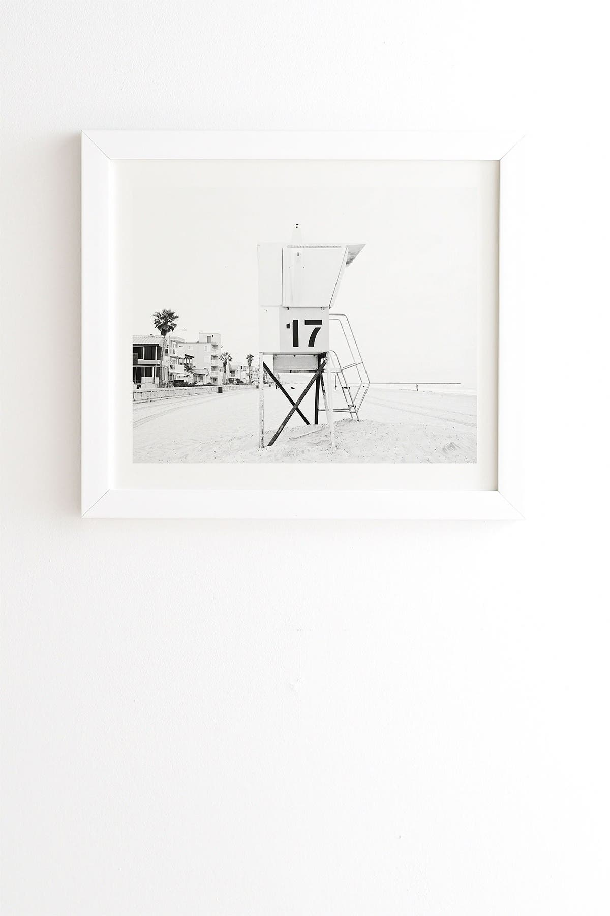 Image of Deny Designs Bree Madden Tower 17 White Framed Art