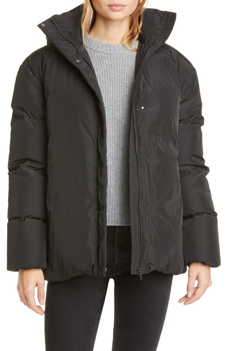 JENNI KAYNE Tech Down Everyday Puffer Sleeve Jacket, Main, color, BLACK