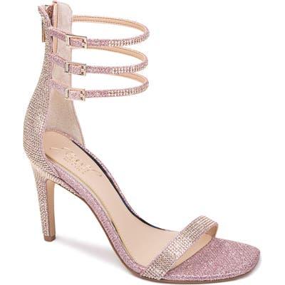 Jewel Badgley Mischka Regina Ankle Strap Sandal, Pink