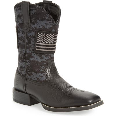 Ariat Sport Patriot Cowboy Boot, Black