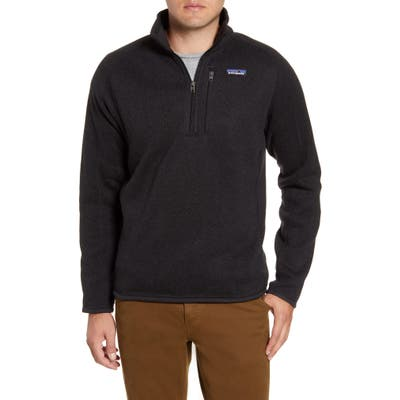 Patagonia Better Sweater Quarter Zip Jacket, Black