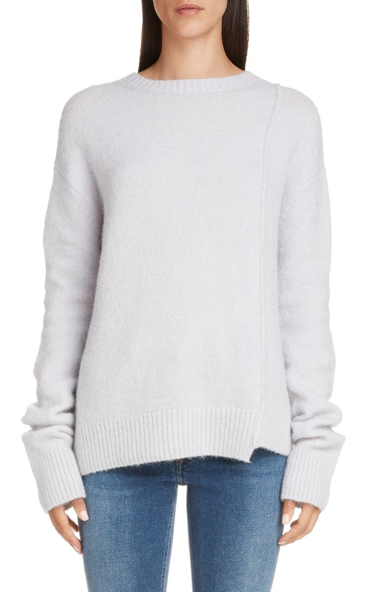 ACNE STUDIOS Kerna Asymmetrical Sweater, Main, color, ICE BLUE