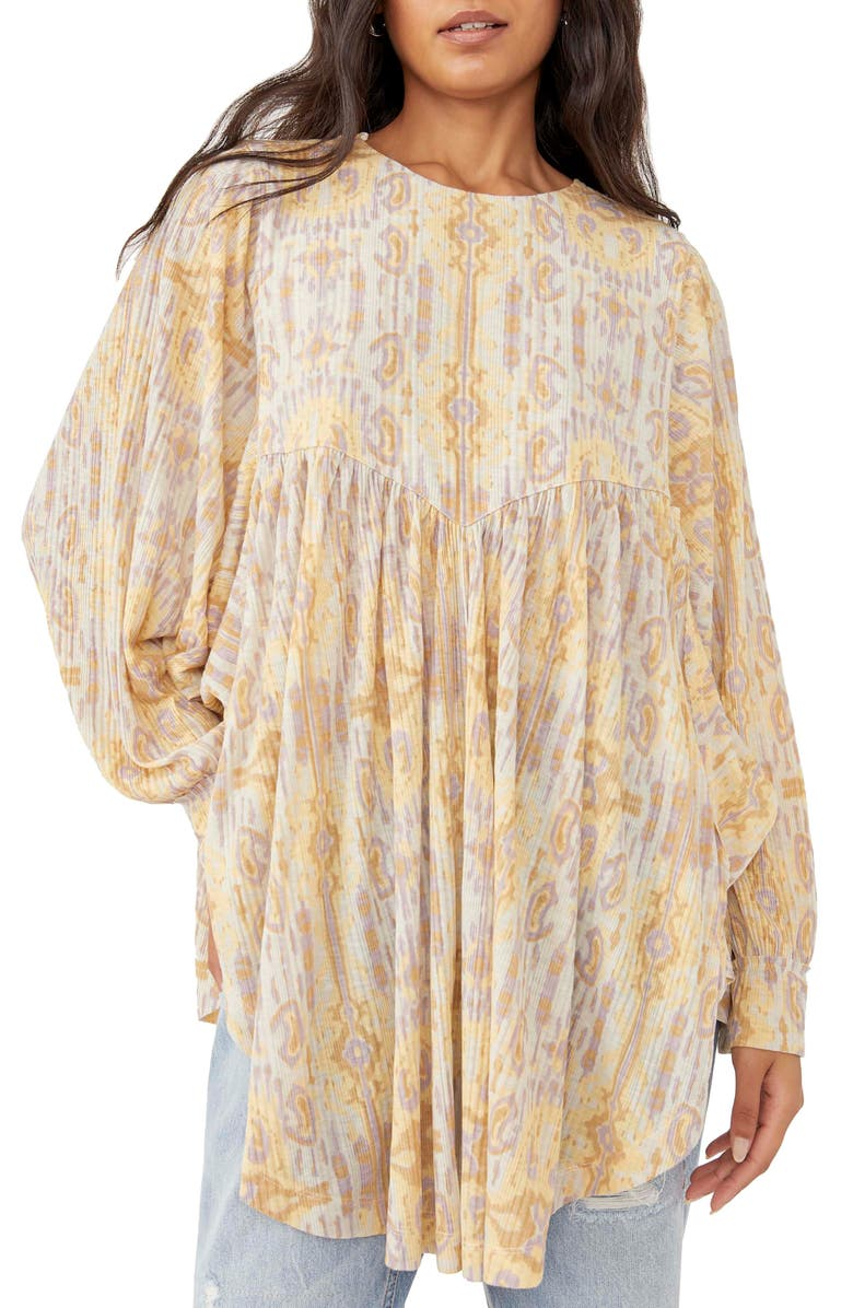 FREE PEOPLE This Is It Tunic Top, Main, color, PARCHMENT COMBO