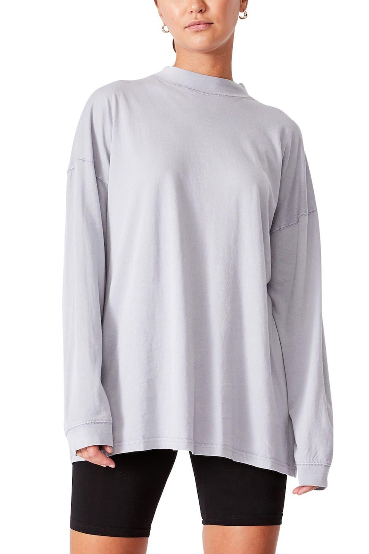 Cotton On 90s Longline Drop Shoulder Long Sleeve Top at Nordstrom Rack