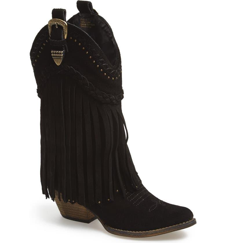 VERY VOLATILE 'Pasa' Suede Western Boot, Main, color, 001