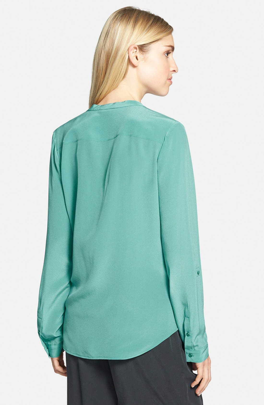 ,                             Collarless Silk Blouse,                             Alternate thumbnail 55, color,                             440