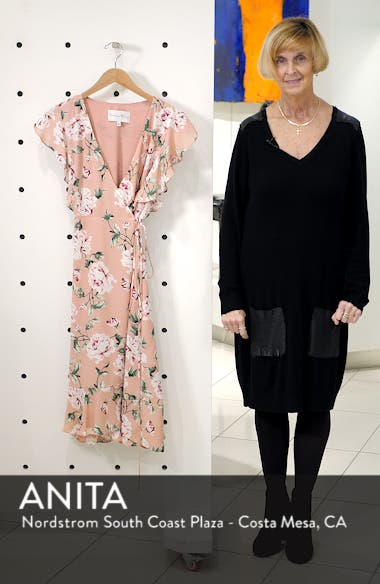 Ruffle Sleeve Floral Wrap Dress, sales video thumbnail