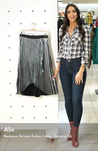 x Atlantic-Pacific Waterfall Lamé Skirt, sales video thumbnail