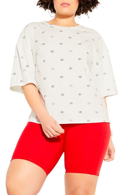 City Chic PHYSICAL GRAPHIC TEE